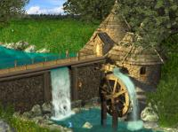 Screenshot programu Watermill by Waterfall Screen Saver r 5.07