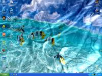 Screenshot programu Watery Desktop 3D 3.998