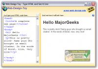 Screenshot programu Web Design Toy 1.02.88 a