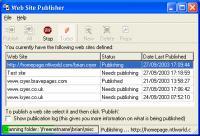 Screenshot programu Web Site Publisher 2.3.0 Build 2725