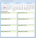 Screenshot programu Weekly Calendar Schedule Software 7.0