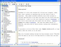 Screenshot programu wikidPad 2.0  Beta 04