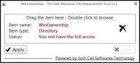 Screenshot programu WinOwnership 1.1