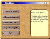 Screenshot programu WinClean 1.0