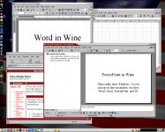 Screenshot programu Wine 1.1.17
