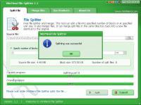 Screenshot programu WinMend File Splitter 1.3.2