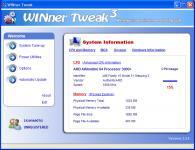 Screenshot programu WINner Tweak 3.9.0