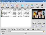 Screenshot programu WMV to AVI MPEG WMV VCD SVCD DVD Converter  5.9.7