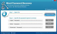 Screenshot programu Word Password Recovery 4.0