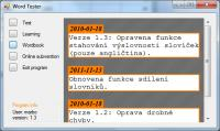 Screenshot programu Word Tester 1.3