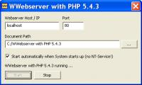 Screenshot programu wwebserver 0.9