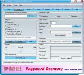 Screenshot programu ZIP RAR ACE Password Recovery 2.43.34