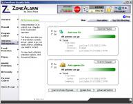 Screenshot programu ZoneAlarm Pro 10.2.073.000