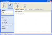Screenshot programu ZSoft Uninstaller 2.5