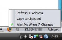 Screenshot programu external IP 0.9.9.5