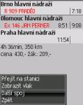 Screenshot programu jVlaky 2009 090913