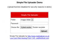 Screenshot programu simplefile uploader 1.0